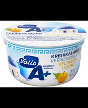 Valio A+ kreikkalainen kerrosjogurtti 150 g keltainen luumu laktoositon