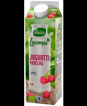 Valio Luomu jogurtti 1 kg vadelma laktoositon