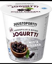Juustoportti Ab-jogurtti 150g musta kirsikka