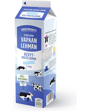 Juustoportti Vapaan lehmän laktoositon kevytmaitojuoma 1l