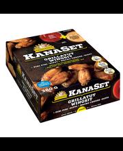 Kariniemen Kanaset grillatut wingsit 300 g, Nacho Cheese- dippi 40g ja Piri Piri dippi 40g
