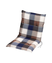 Puutuolin istuinpehmuste 100x49x6 cm, sininen/beige
