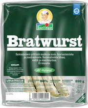 Snellman 230g All Natural Bratwurst ruokamakkara