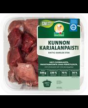 Snellman 500g Kunnon Karjalanpaisti porsaan ja naudan lihasta kuutiot