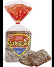 Rosten Ruisrokit 400g/6kpl tumma ruismallasleipä
