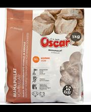 Oscar 1kg Raakapakastetut Mahapullat koirille ja kissoille