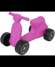 Plasto skootteri, pinkki, hiljaiset pyörät