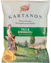 Taffel Kartanon 50g tilli&kermaviili maustettu perunalastu