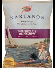 Taffel Kartanon 180g merisuola&balsamico maustettu perunalastu