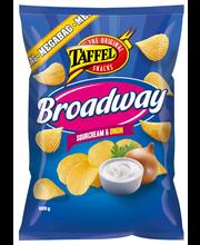 Taffel Broadway 325g ranskankerma&sipuli maustettu perunalastu