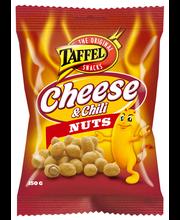 Taffel 150g Cheese & Chili Nuts kuorrutettu maapähkinä
