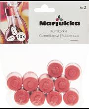 Kumitulppa nro 2 10kpl 0,3/0,5l pulloon