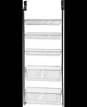 Saima oveen ripustettava metallihylly 5-tason