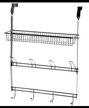 Saima oveen ripustettava metallihylly 3-tason