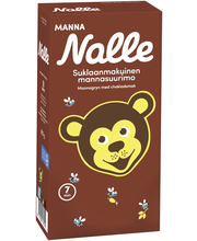 Nalle Manna 600g suklaanmakuisia mannasuurimoita
