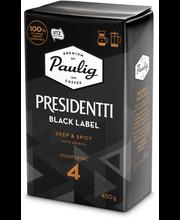 Presidentti Black Label 450g hienojauhettu kahvi