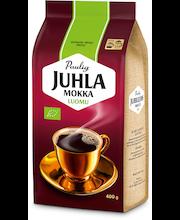 Juhla Mokka 400g Luomu hienojauhettu kahvi