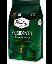 Presidentti Tumma Paahto 450g papukahvi