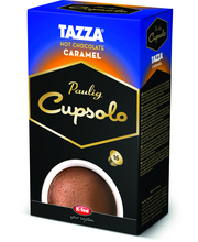 Paulig Cupsolo Tazza Caramel 16kpl karamellin makuinen kaakaojuomajauhe