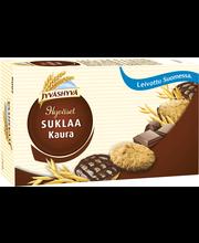 Jyväshyvä Hyväset 200g  n 34kpl Suklaakaura maitosuklaalla kuorrutettu pieni kaurakeksi