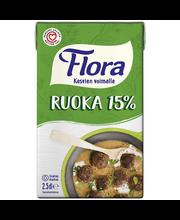 Flora 250ml Ruoka 15% maitopohjainen kasviöljysekoite
