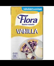 Flora 250ml Vanilla vähälaktoosinen vispautuva vanilliinikastike