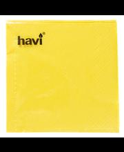 Havi lautasliina keltainen 24cm 50kpl