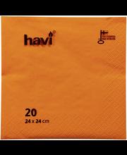 Lautasliina 24Cm Oranssi