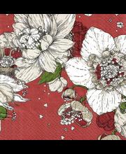 Havi Nuppu 20kpl/33cm Sydäntalvi punainen tissue lautasliina