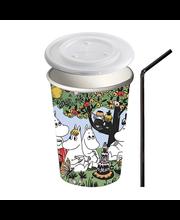 Moomin 10kpl/300ml Moomin Juhlasetti kuppi + kansi + pilli