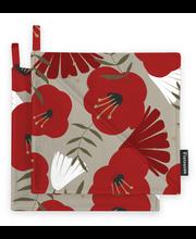 Finlayson Anni patalappu beige/punainen 2kpl 22x22 cm