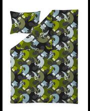 Finlayson Lutralutra pussilakanasetti tummanharmaa/vihreä 150x210+50x60 cm