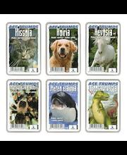 Eläinpelikortit Ace Trumps, erilaisia