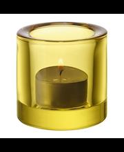 Iittala Kivi kynttilälyhty 60 mm, sitruunankeltainen