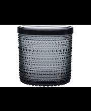 Iittala Kastehelmi purkki, harmaa 11x11 cm