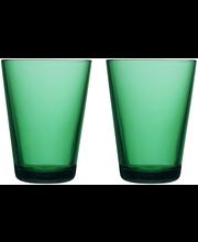 Iittala Kartio juomalasi 40 cl, 2 kpl, smaragdi