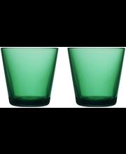 Iittala Kartio juomalasi 21 cl , 2 kpl, smaragdi