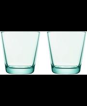 Iittala Kartio juomalasi 21 cl 2 kpl, vedenvihreä