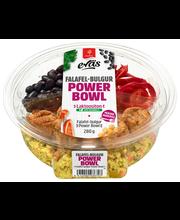 Saarioinen Eväs Power Bowl Falafel-bulgur; bulguria, falafelpyöryköitä, lehtikaalia ja mustapapua sisältävä salaatti 280g
