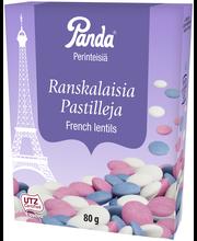 Panda Perinteisiä Ranskalaisia pastilleja 80g piparmintunmakuisia suklaarakeita