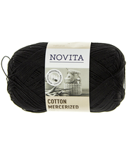 Novita Cotton Mercerized 100g lanka väri 099 noki