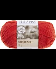 Novita Cotton Soft 50 g Punarinta 543 lanka