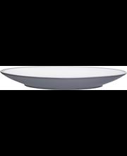 Ruokalautanen Kuulas 25 cm harmaavalkoinen