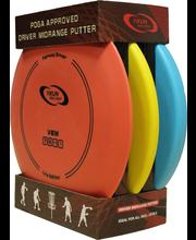 Frisbeegolf kiekkosetti PDGA 3 kiekkoa