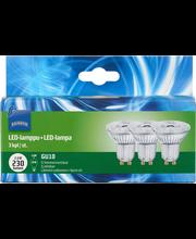LED-lamppu 3W GU10, kohde, 3-pack