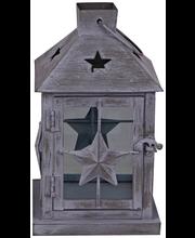 House lyhty metallia 26 cm harmaa
