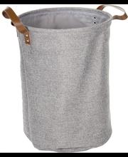Pyykkikori tekonahkakahva
