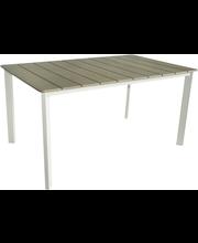 Pöytä polyw/alum 150x90cm