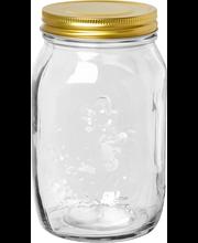 Lasipurkki kierrekannella 970 ml