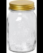 Lasipurkki kierrekannella 500 ml